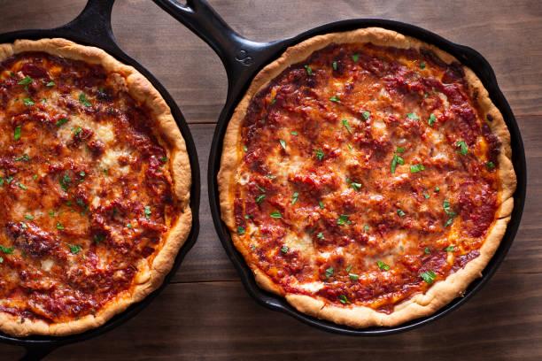 Deep Dish Pizza stock photo