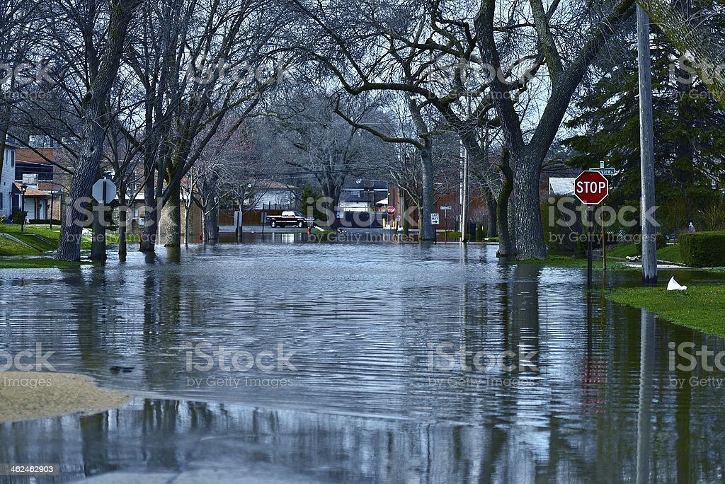Deep Flood Water stock photo