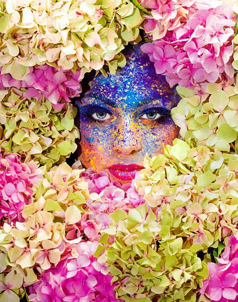 tiefe blume porträt - rosa tarnfarbe stock-fotos und bilder