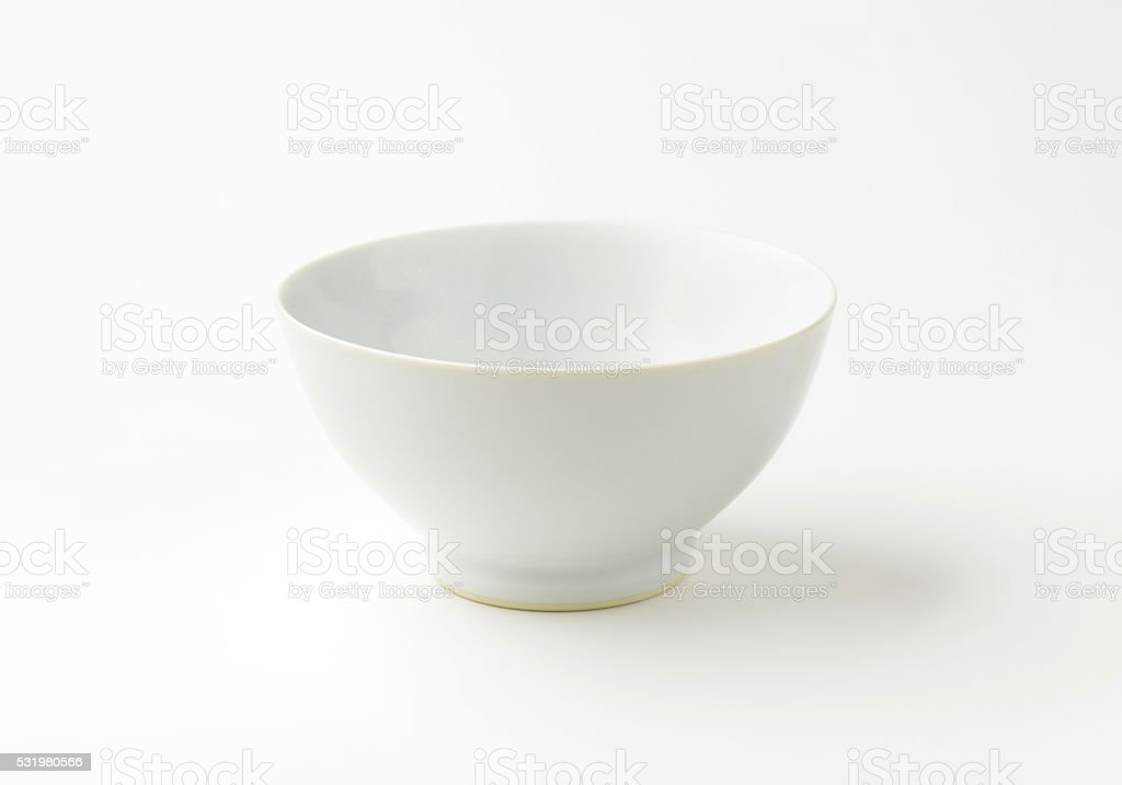 Deep footed white bowl stock photo