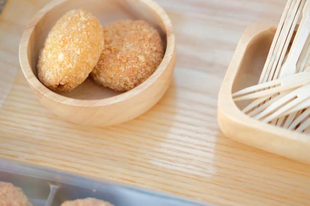 frittiert geprügelt knusprige Huhn vegan nugget – Foto