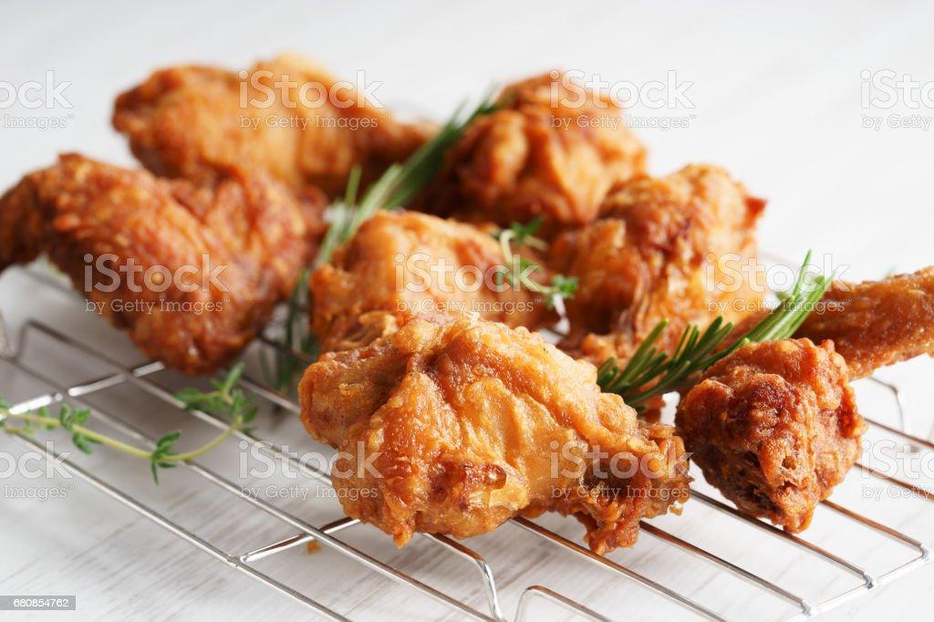 Deep Fried Breaded Chicken Wings royalty-free stock photo