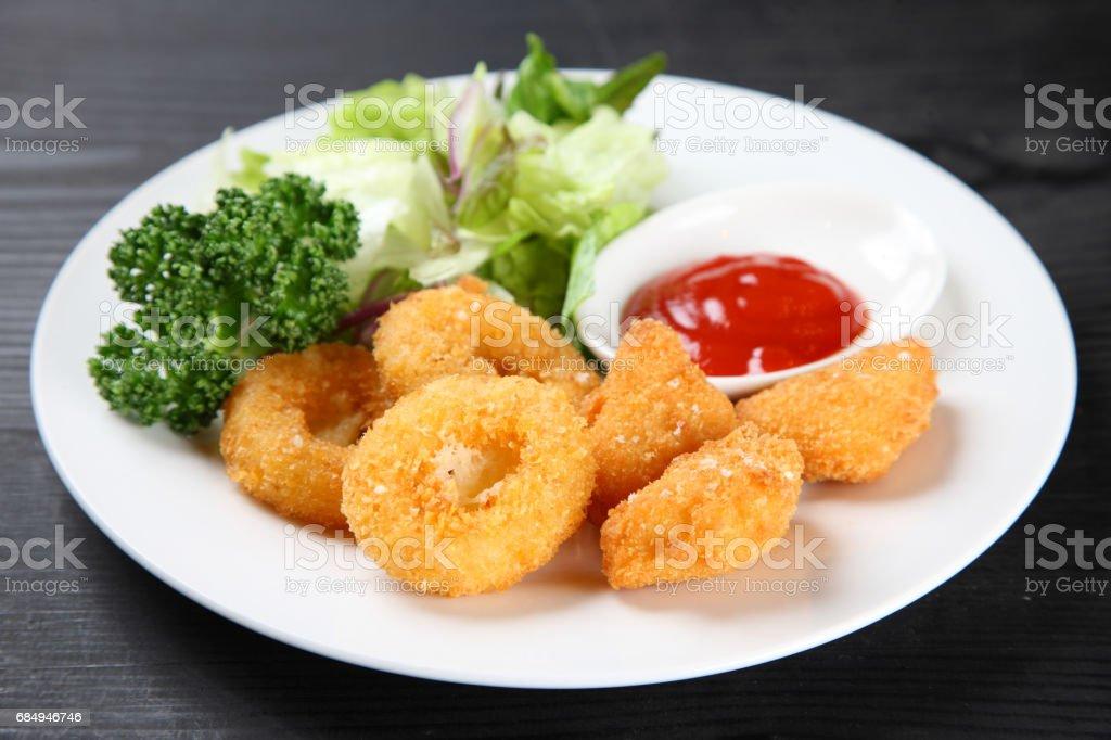 Frittierte calamari Lizenzfreies stock-foto
