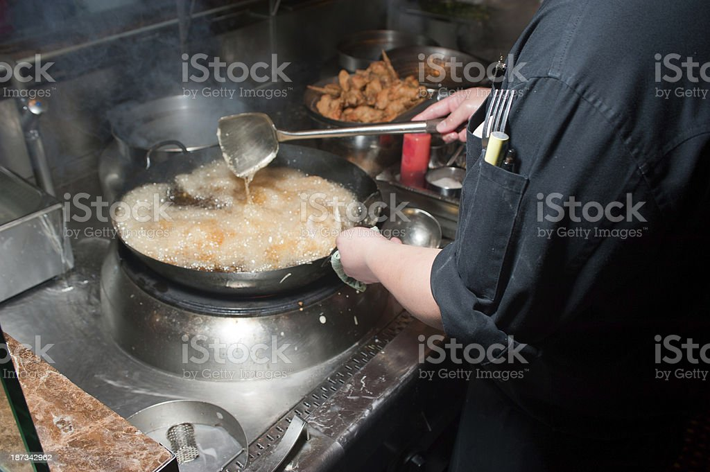 Deep Fried Chicken Wings - Preparation Part 3 of 7 royalty-free stock photo