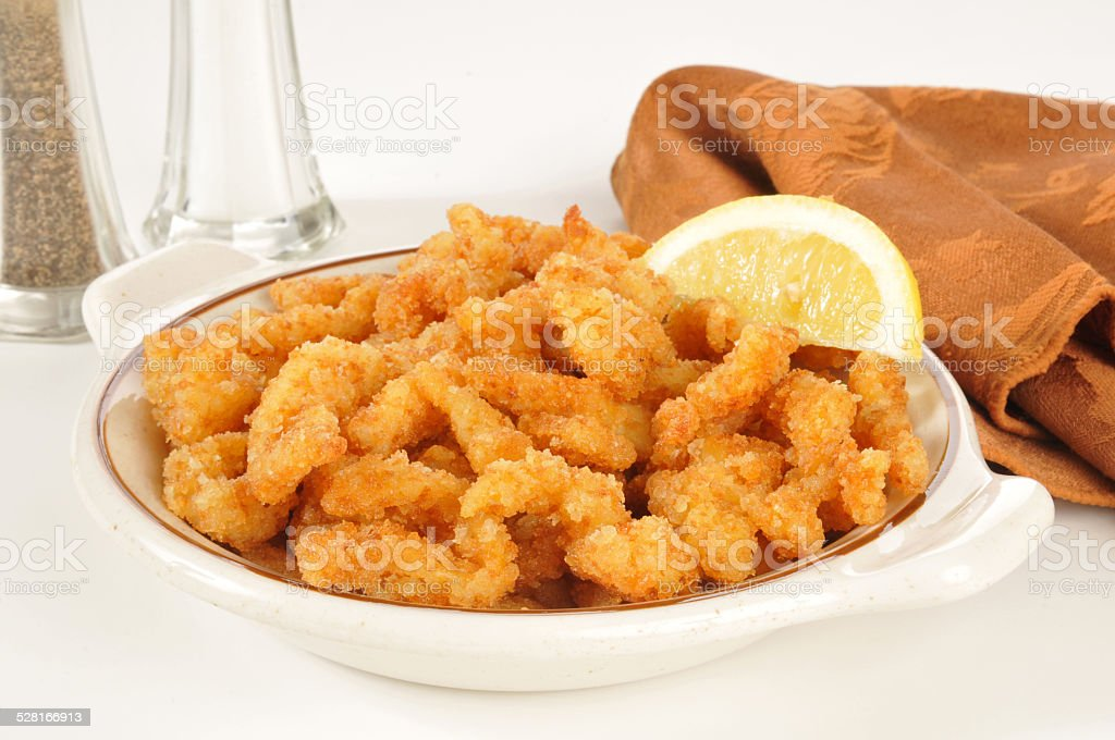 Deep fried almejas - foto de stock