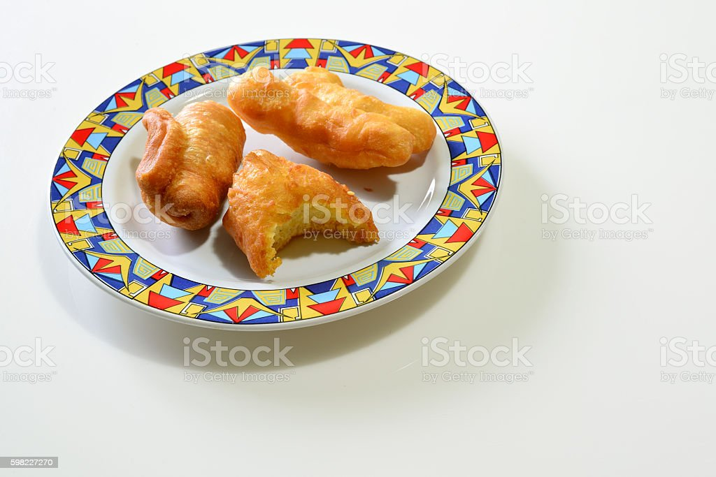 Deep Fried Dough Stick with bite(Pa Tong Go), Thailand Breakfast foto royalty-free