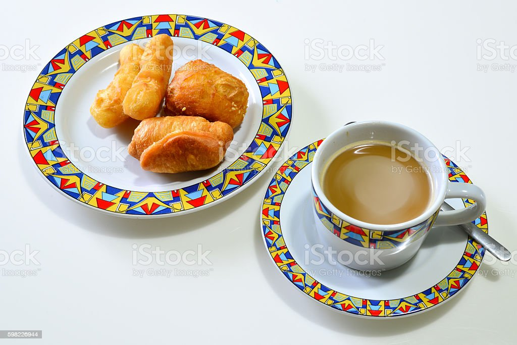 Deep Fried Dough Stick (Pa Tong Go) with Coffee foto royalty-free