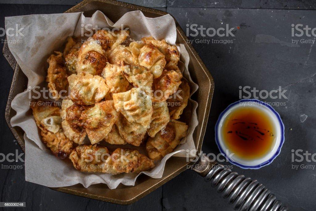 Deep Fried Dumplings royalty-free stock photo