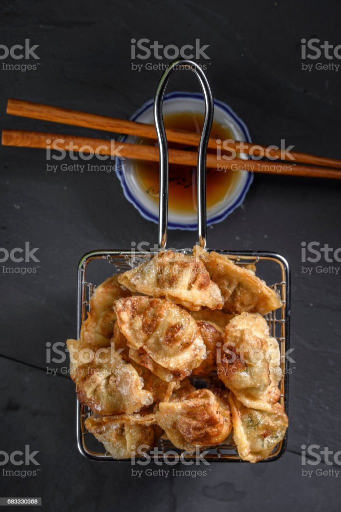 Deep Fried Dumplings royalty free stockfoto