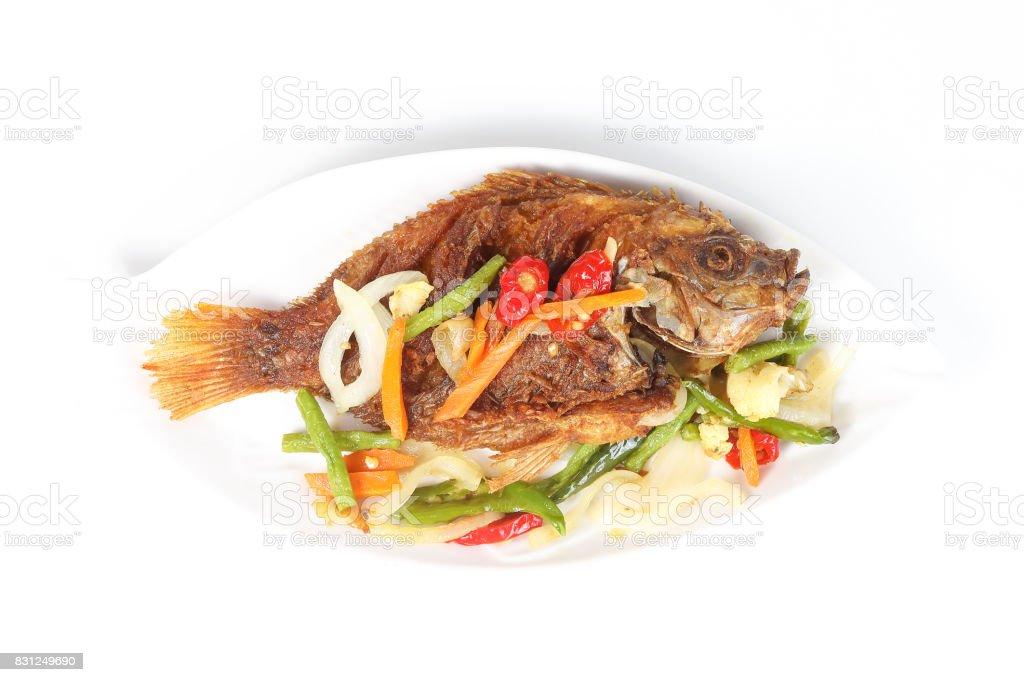 Deep Fried Fish stock photo