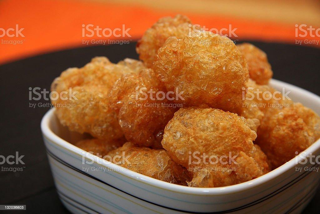 Deep fried gluten stock photo