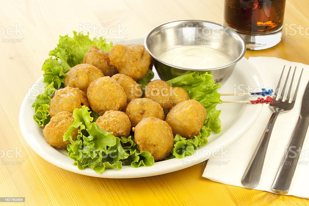Deep Fried Mushrooms royalty-free stock photo