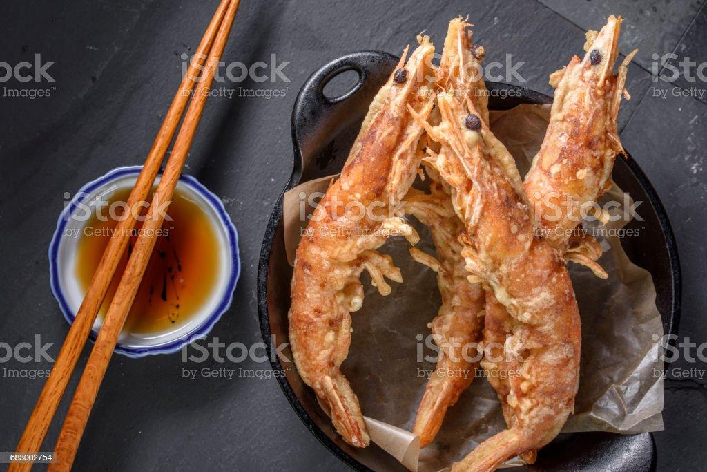 Deep Fried Prawn royalty-free stock photo