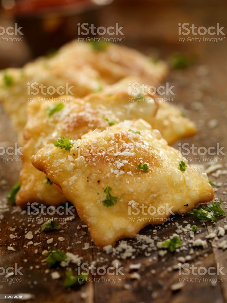 Deep Fried Ravioli stock photo