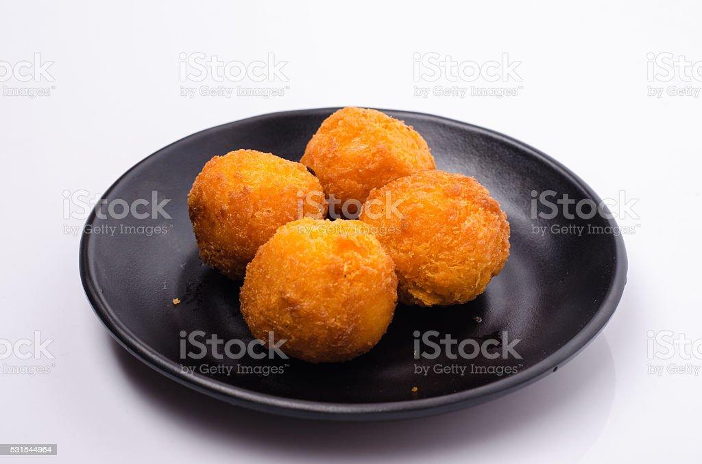 Bolinhos de arroz frito - foto de acervo