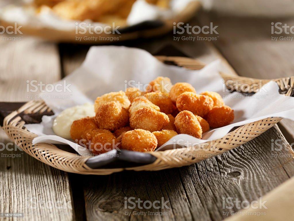 Deep Fried Scallops stock photo
