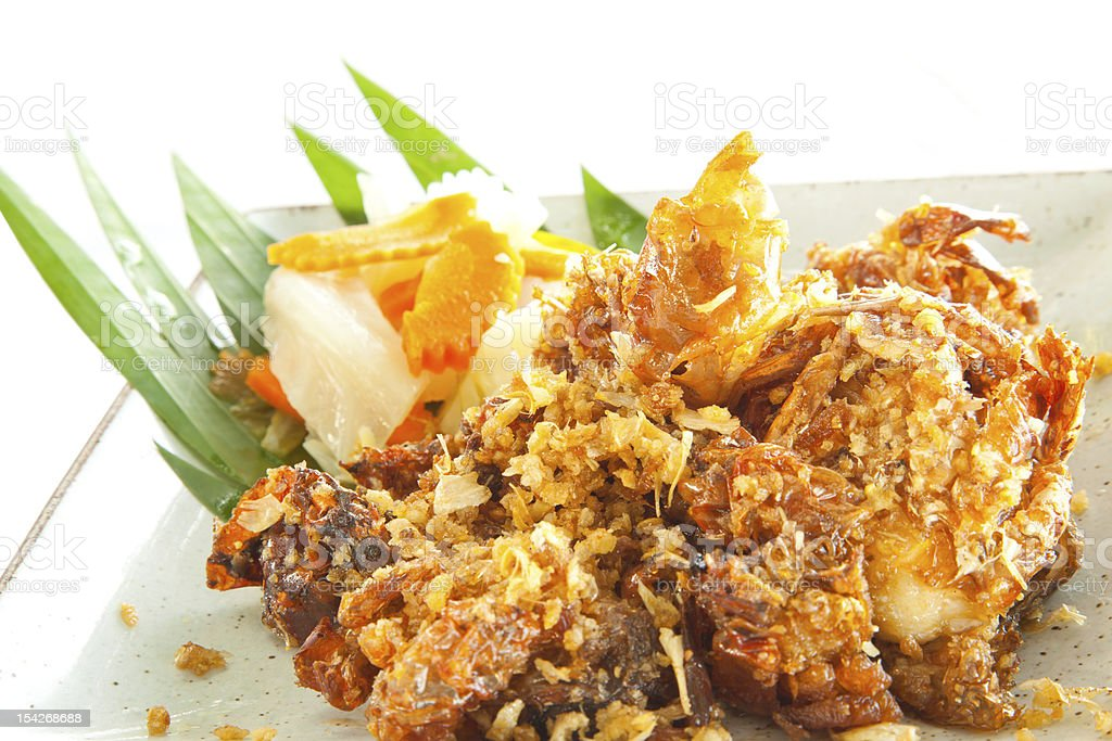 deep fried Soft Shell Crab seafood stock photo
