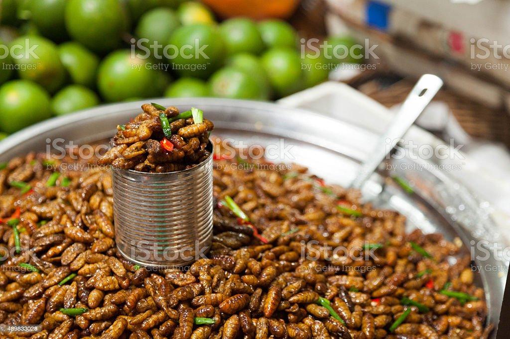 Frittierte worms – Foto