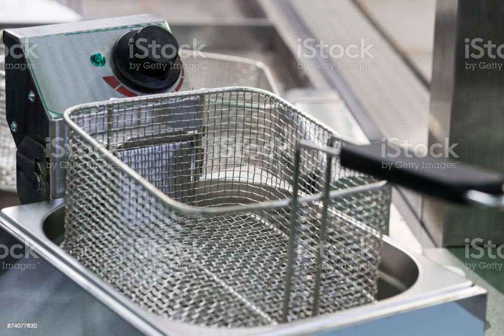 Deep frying surface stock photo