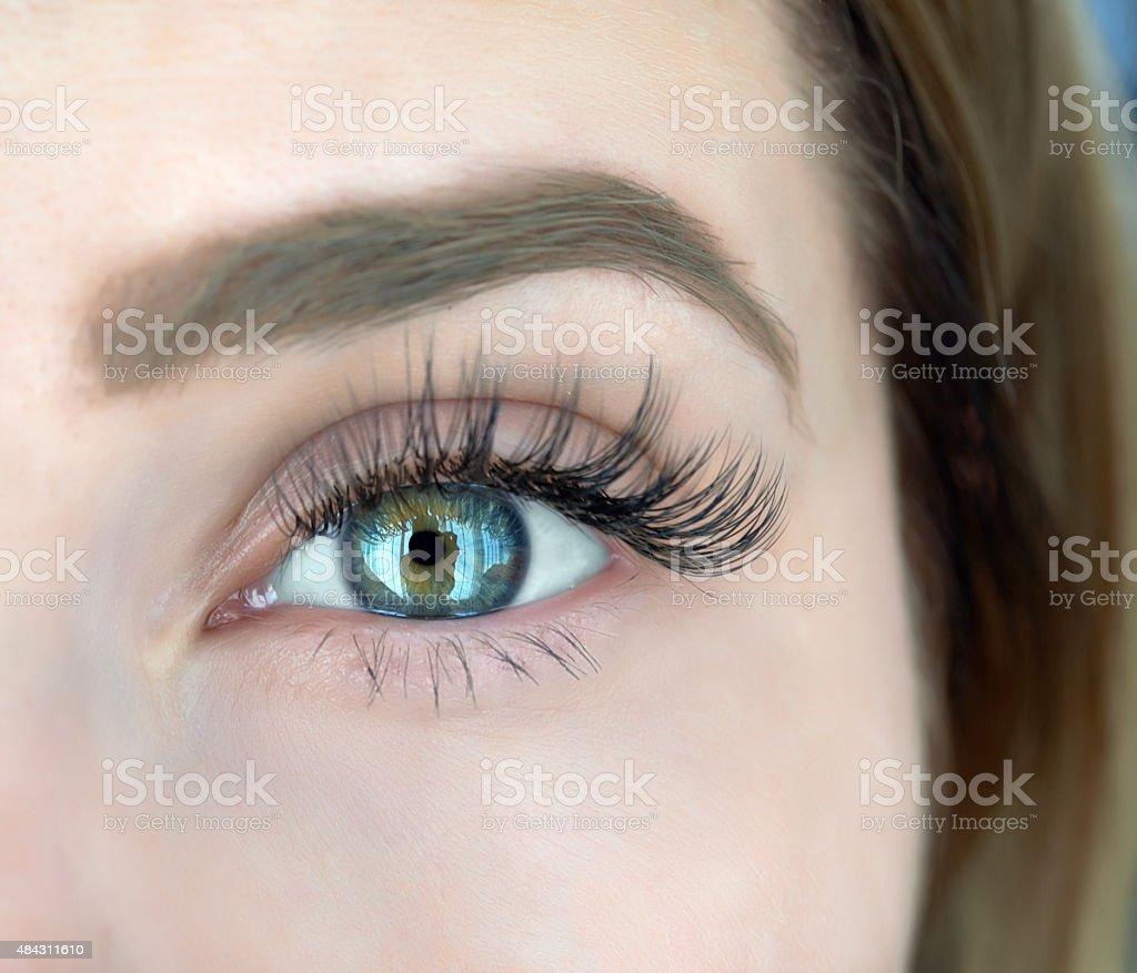 deep green eye stock photo