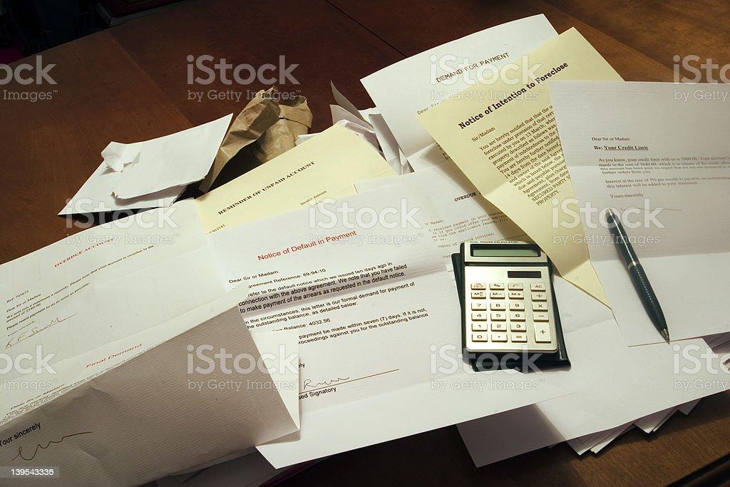Deep in debt royalty-free stock photo