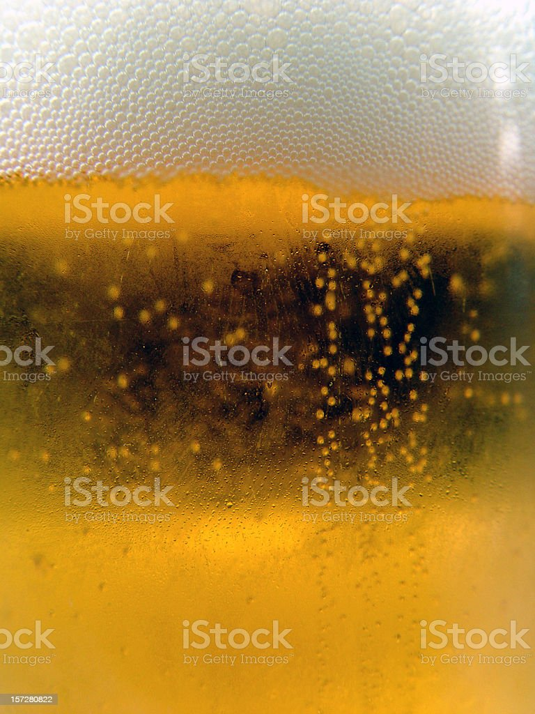 Deep in the beer - super closeup royalty-free stock photo