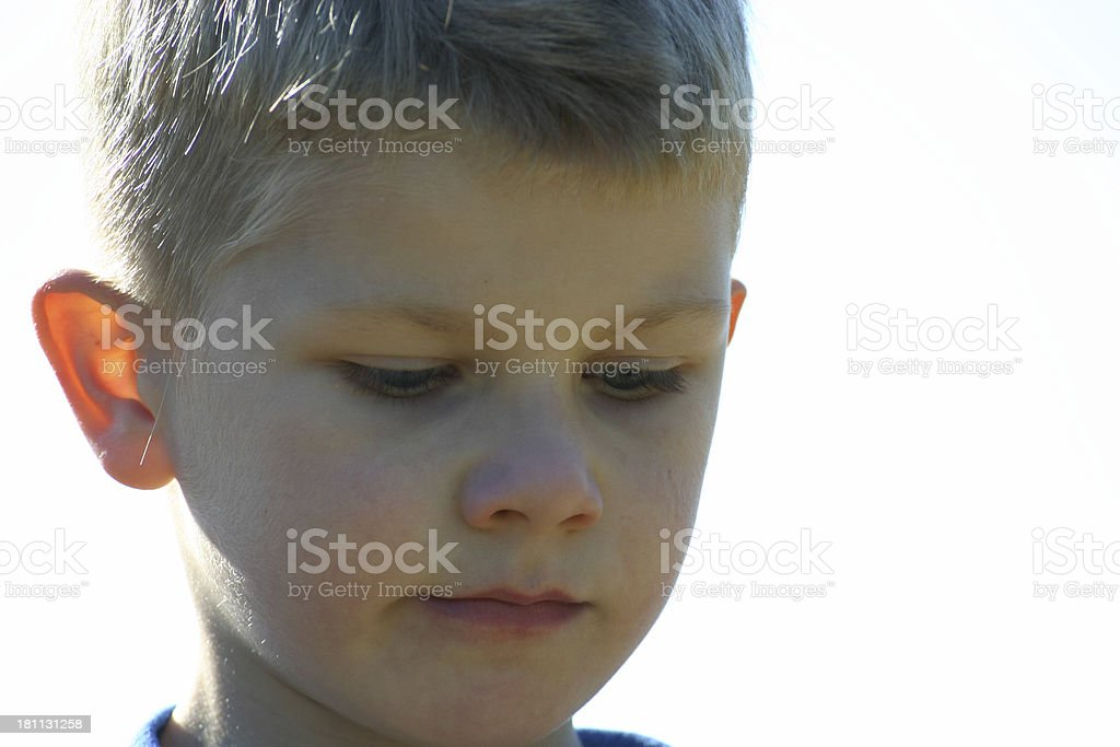 Deep in thought royalty-free stock photo