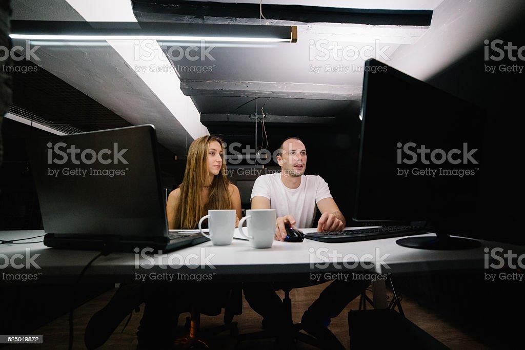 Deep in Work stock photo