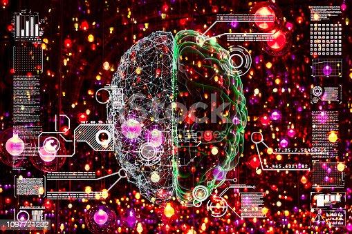 istock Deep learning illustration 1097721232