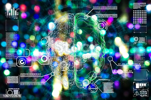 istock Deep learning illustration 1097722576