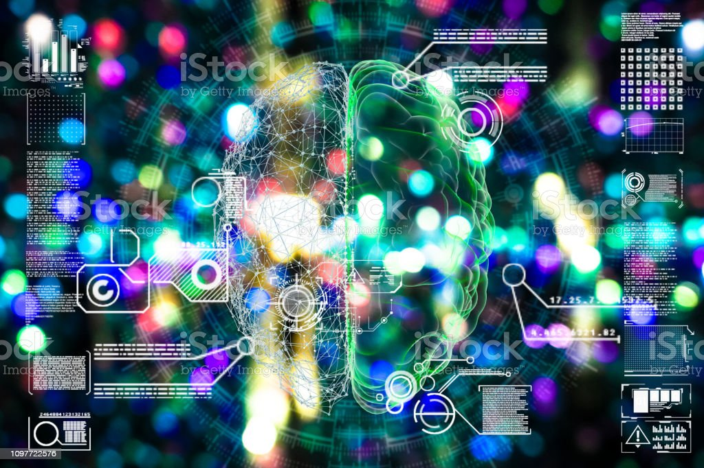 Deep learning illustration stock photo