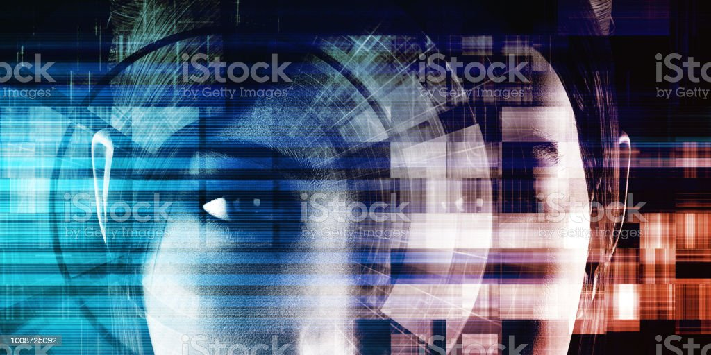 Deep Learning Deep Learning and Machine Artificial Intelligence Concept Abstract Stock Photo