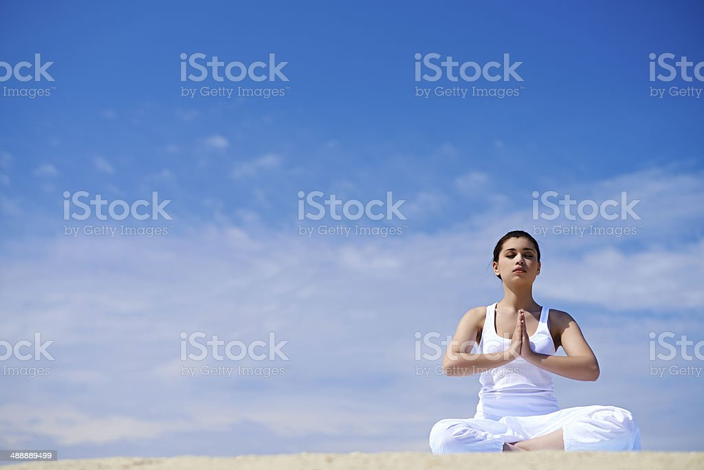 Deep meditation royalty-free stock photo