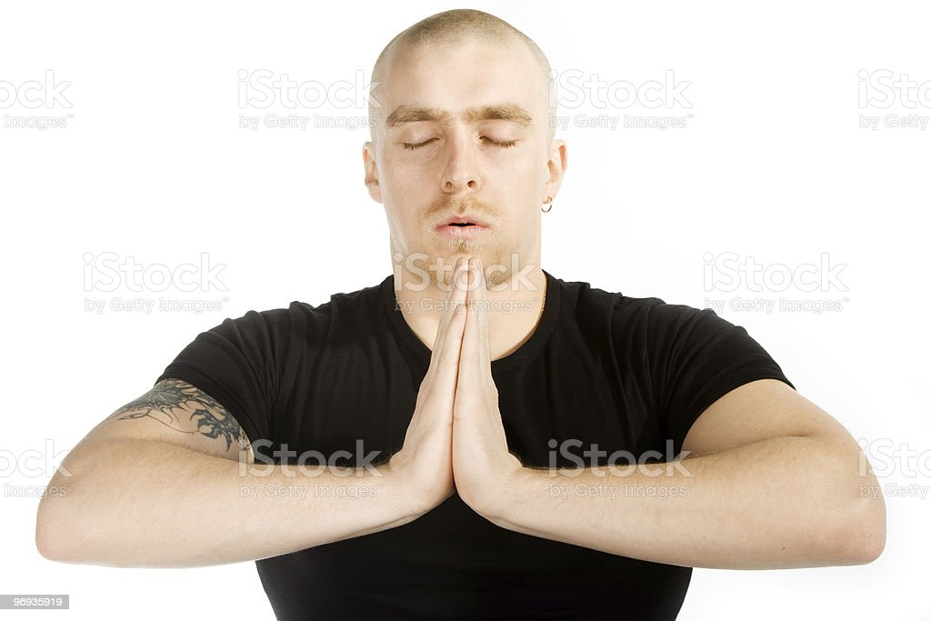 Deep meditation royalty-free stock photo