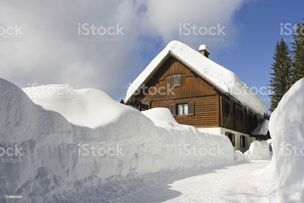 Deep Powder Snow royalty-free stock photo