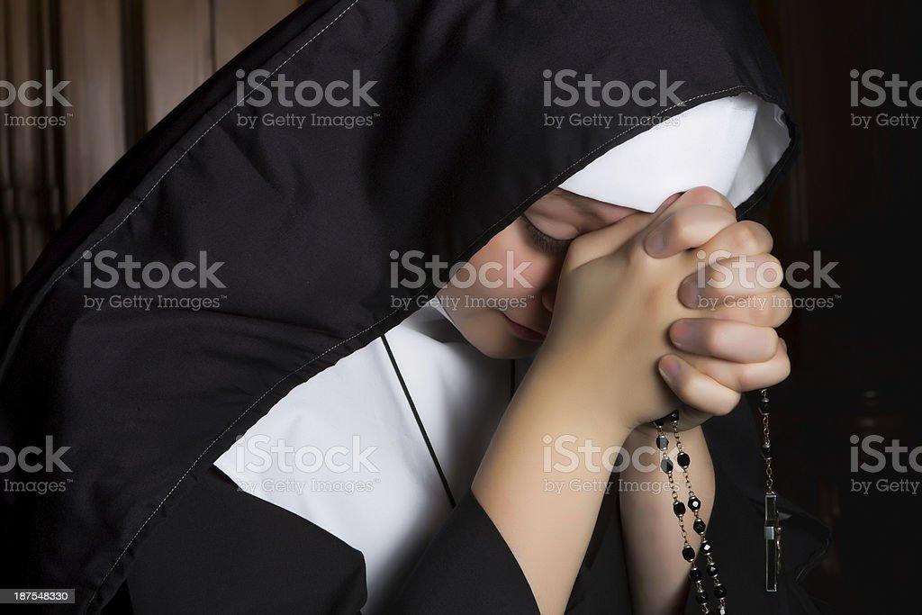 Deep prayer stock photo