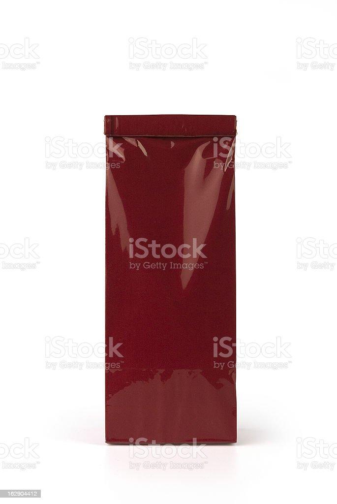 Deep red bag stock photo