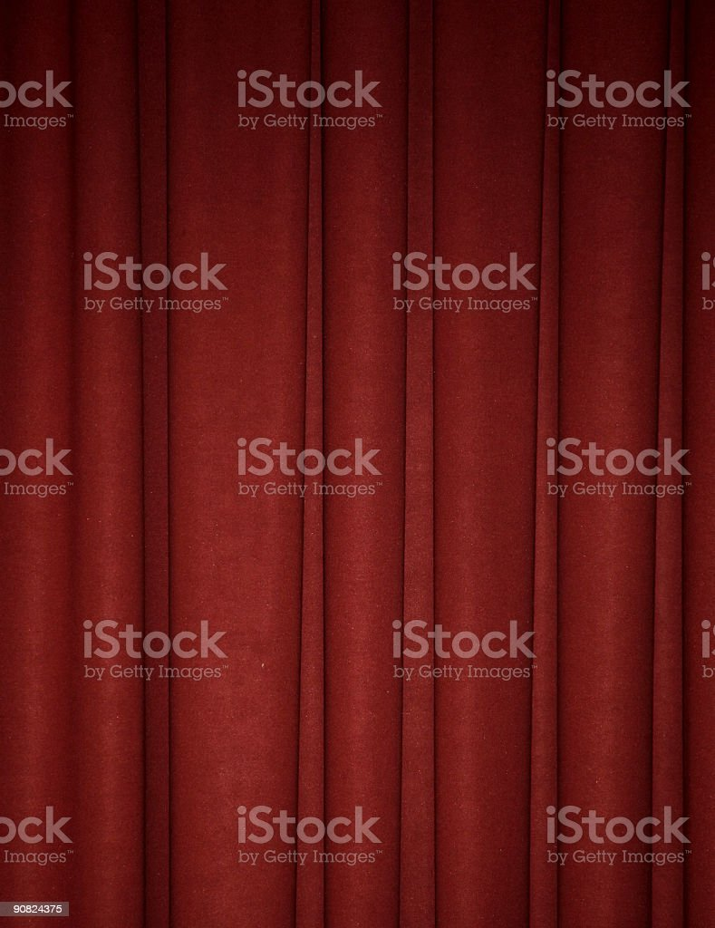 Deep red draped backdrop background stock photo