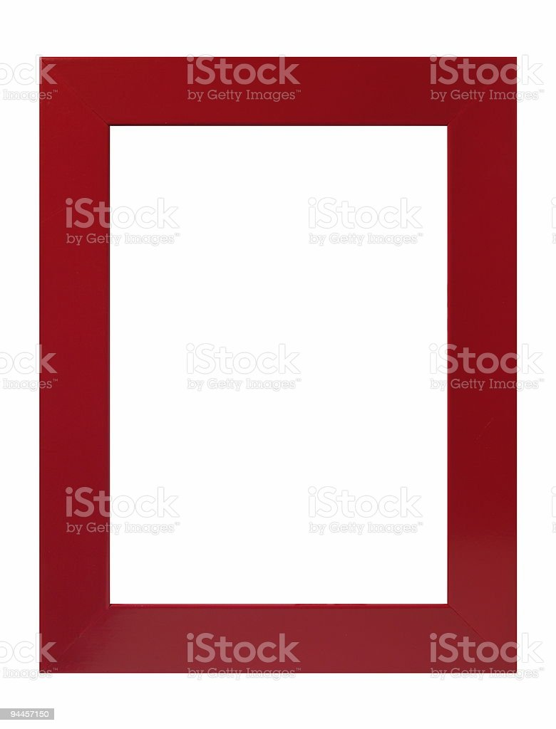 Deep red frame royalty-free stock photo