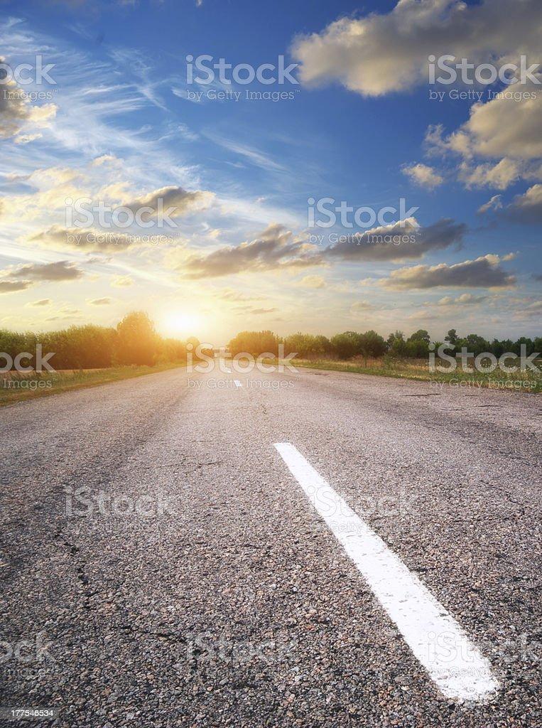 Deep road. royalty-free stock photo