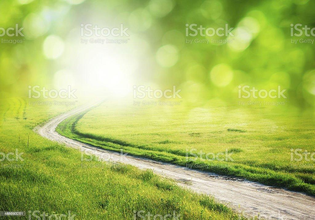 Deep road. stock photo