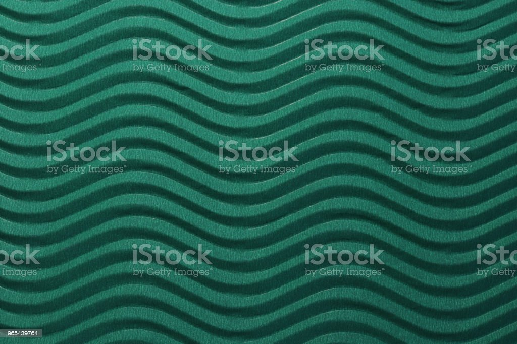 Deep Sea Blue Paper Horizontal Waves Texture. Embossed Waves on Detailed Paper Background. Corrugated Wavy Cardboard Backdrop. zbiór zdjęć royalty-free