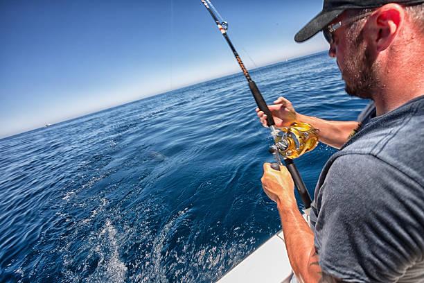 Deep Sea Fisherman stock photo