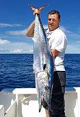 Deep sea fishing, catch of fish, wahoo