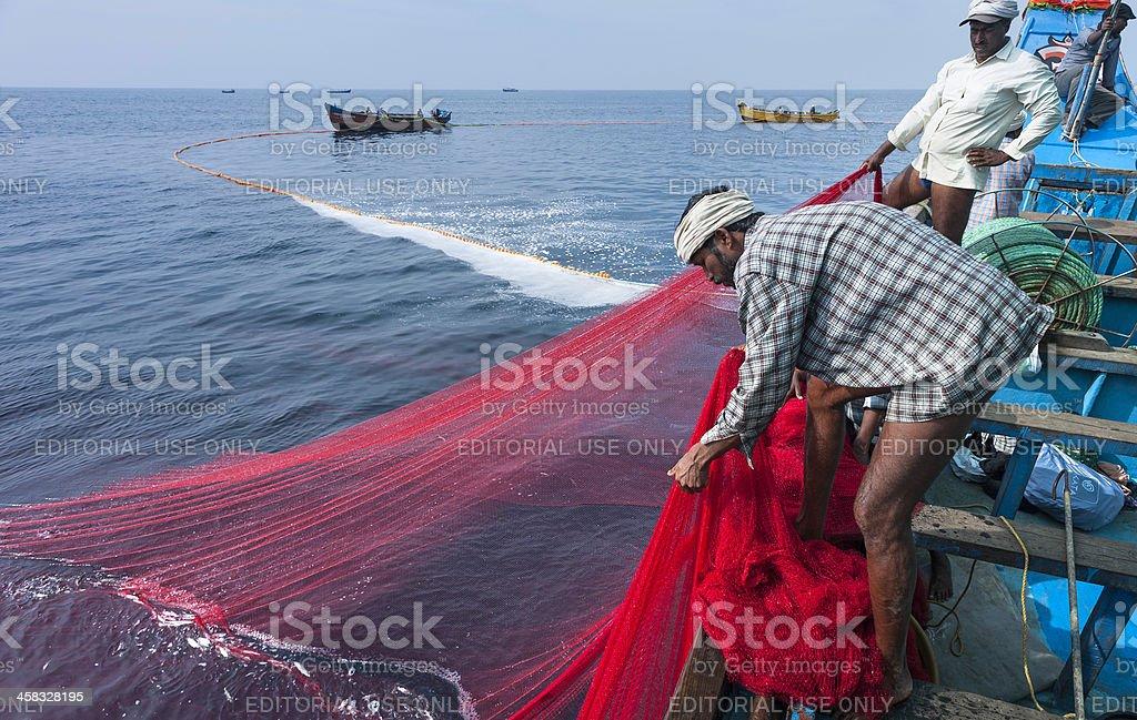 Deep sea fishing, Kannur, Kerala, India. royalty-free stock photo