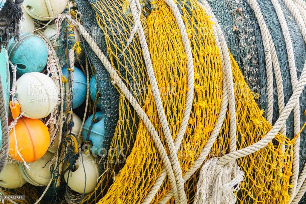 Deep sea fishing net stock photo
