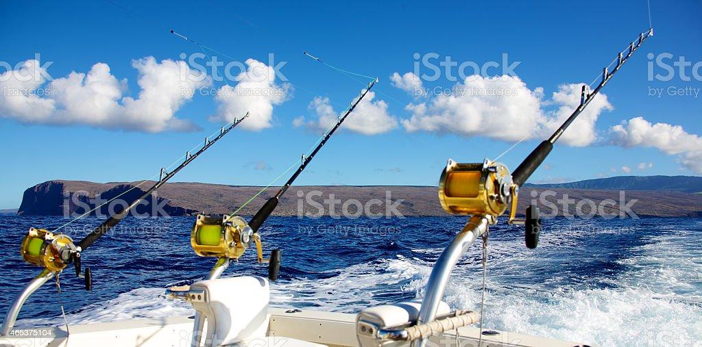 Deep sea fishing stock photo