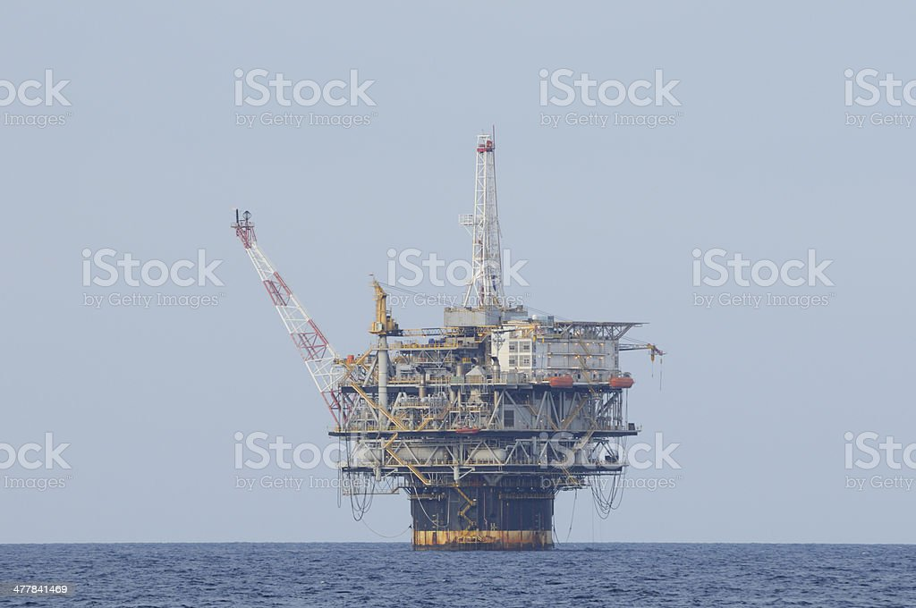 Deep sea oil production platform royalty-free stock photo