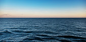 Deep sea sunset for background.