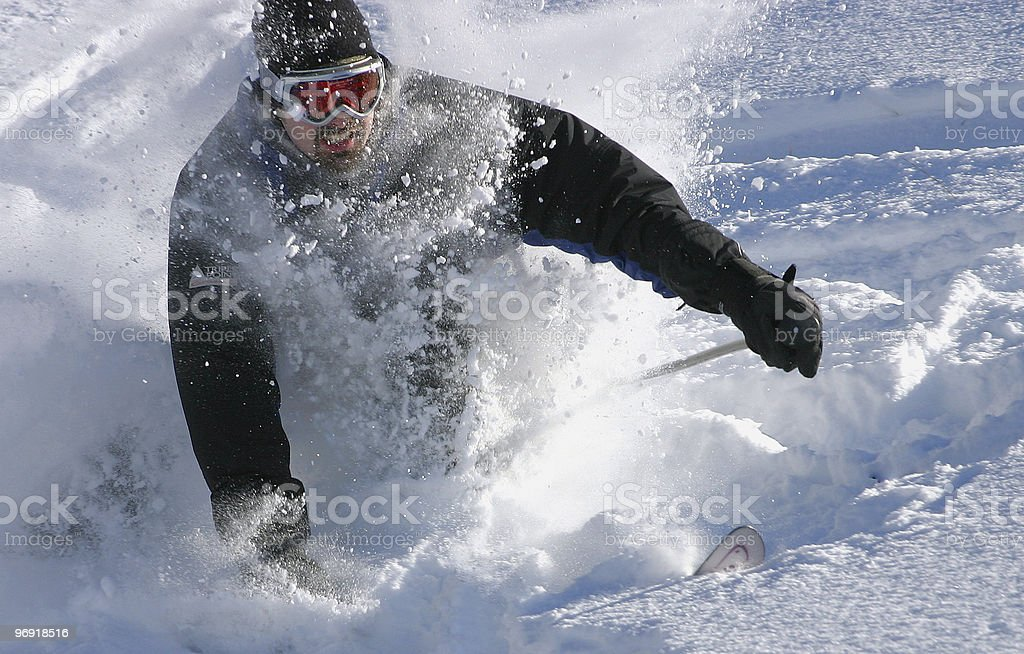 deep snow stock photo